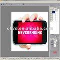 Vidéo professionnelle de photo d'impression du logiciel (PSDTO3D101) d'impression facile de /cheque éditant le logiciel d'impression de signe de software/OK3D