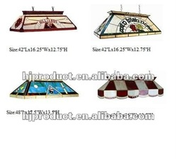 high quality and fancy different color and size option customized tiffany pool table light