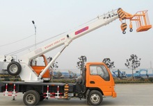 working platform truck with crane