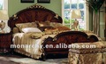 B127b-16/17/18 2012 sólido de madera tallado a mano de estilo americano de la cama