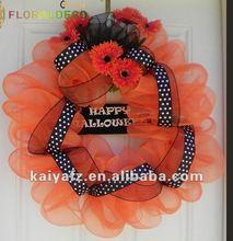 Halloween Door Decoration Mesh Wreath