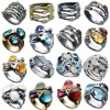 Three crystal stones rings jewelry