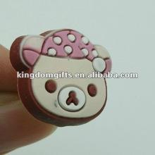 2012 soft PVC ear cap dust plug for mobile phone