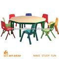 Pré-escolar mobiliário cadeira de plástico e mesa redonda