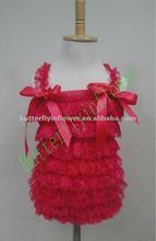 New design Baby lace tops no MOQ