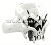 2012 so cool antique silver plated skull ring