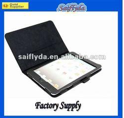 leather 2 fold leather case for mini ipad