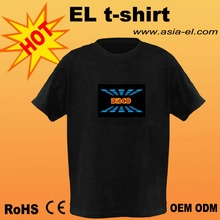 hot! hot!Popular led equalizer/DJ Music Activated flashing T-Shirt for cheer up party