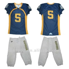 American Football Tops with team names and numbers