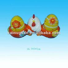 easter chicken w/egg ceramic canister jar
