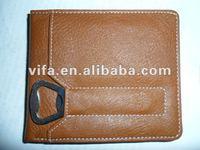 PU men wallet with bottle opener