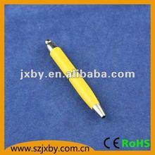 half-metal rubber grip ball pen
