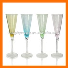 Hand blown colored champagne glass,champagne flute