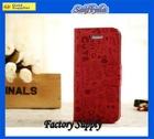 pu flip leather phone case for iphone5