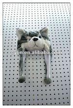 HUSKY Shape Faux Fur Animal Hat