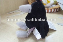 Cute! soft cartoon black birds stuffed kids toy new toys for christmas 2013 best gifts cheap wholesale good quality