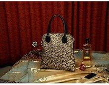 2012 new leopard bag shoulder bag handbags European and American fashion bags