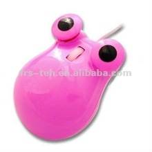 cartoon animal optical gift mouse/pink frog wired mouse