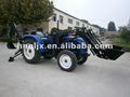 40hp 4wd agrícola trator com pá carregadeira e retroescavadeira escavadeira