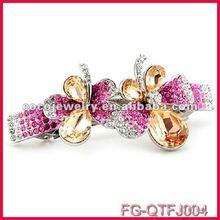 2012 latest crystal fabulous dragonfly shape cheap hair clip accessories wholesale unique design