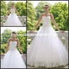 WD1538 2013 New White Lace Corset Ball Gown Tulle Lace Edge Wedding Dress
