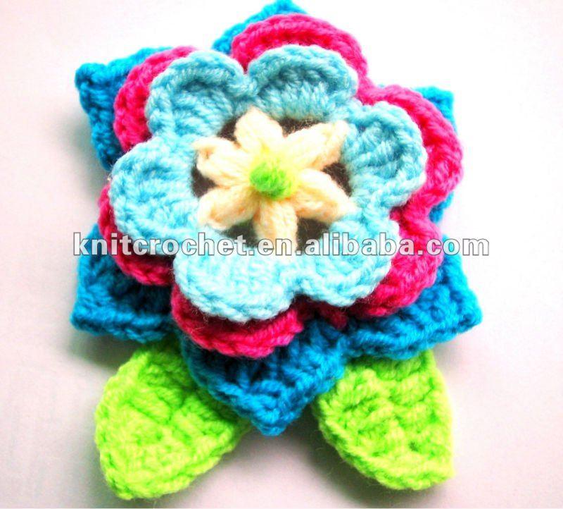 มือชั้นสูงดอกไม้โครเชต์appliques, ถักลายดอกไม้, ถักเข็มกลัด, ถักเสื้อยกทรง, crochets( kcc- hcf00201)