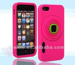 camera design silicon bumper case for iphone 5