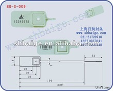 plastic seal BG-S-009, plastic security seal for bags use,BagLock,Smoothlock,Utility Seals