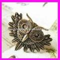 moda in lega di metallo vintage gufo anello forte per gli uomini