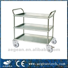 AG-SS022A Top Quality! Smooth and well finished stainless steel General 3 Tier Trolley