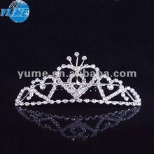 Hot Handmade Rhinestone Bridal Wedding Tiara, Crown Headband Pageant Tiara ,Alloy Crown wedding Hair jewelry WT006