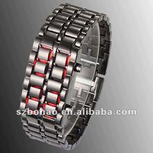 2012 hot selling promotional samurai iron lava led watch