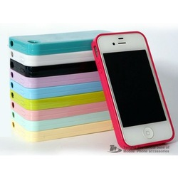 for Apple iphone 5 silica gel shell TPU soft shell jelly color Case