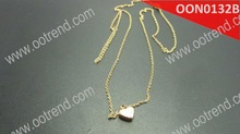 18K gold filled tiny heart necklace ,beautiful stainless steel sweet necklace for girl