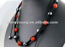 2012 latest men's shamballa necklace BY-1150