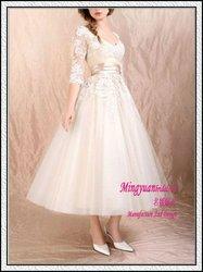 Ankle-length Applique boutique suzhou wedding dress