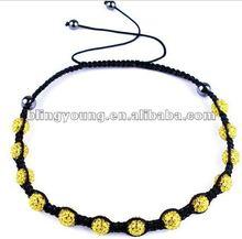 2012 new design shamballa rosary necklace BY-1155