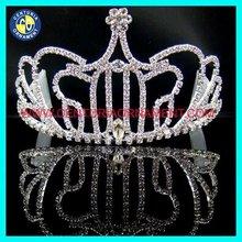 Wholesale Silver King Crown, Rhineston Pumpkin Queen Crowns