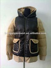 2013 Women's fleece Padded Jacket & Coat detachable sleeve