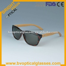 2012 fashionable acetate sunglasses with bamboo temples