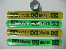 PVC slap bracelet for promotional with logo