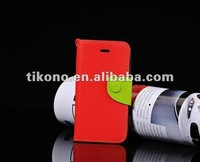 Colorful Credit Slot Leather Case for iPhone5 iPhone 5g