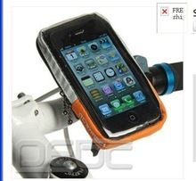 Sport Cycling Bicycle bike Handlebar Bag for Mobile phone iphone 4 4S 5 orange