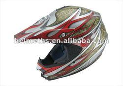 Full face helmet for motorc