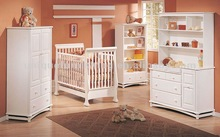 Solid wood baby cot, children beds