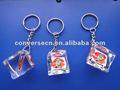 Keychain acrylique blanc clair de photo personnalisé 2012 par modes