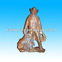 Cowboy porcelain and bronze ceramic