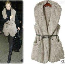 fashion faux fur lady's vest