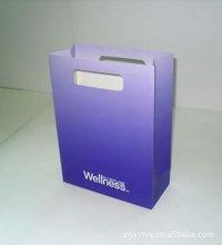 Punched handle paper bag shocking blue