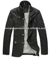 2012 New 100% Cotton Men's British Style Waterproof Thin Jacket
